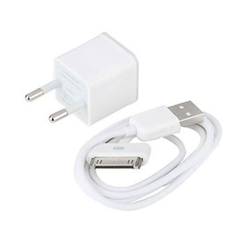 Imagen de CABLE DE DATOS MICRO-USB  CON ADAPTADOR PARA IPHONE 4