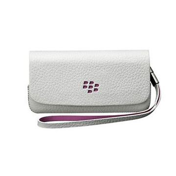 Imagen de ESTUCHE HORIZONTAL BLACKBERRY 9100 ORIGINAL EN COLOR BLANCO